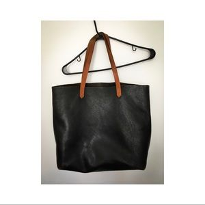 Madewell Transport Tote in Two-Tone Leather